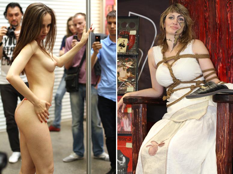 Девушки эротической секс-выставки XShow 2012